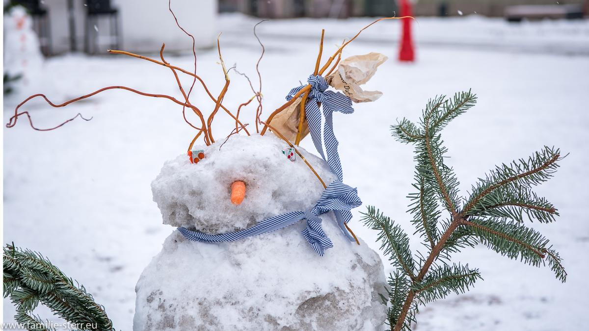 Schneemann beim Schneemann - Flashmob in Schongau