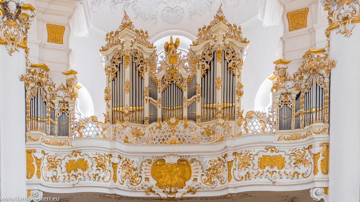 Die Orgel der Wieskirche bei Steingaden im Pfaffenwinkel