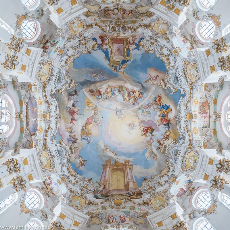 Das Deckenfresko der Wieskirche von Dominikus Zimmermann