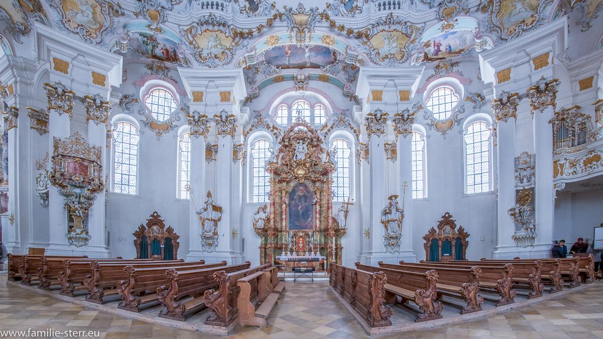 Seitenaltar in der Wieskirche bei Steingaden
