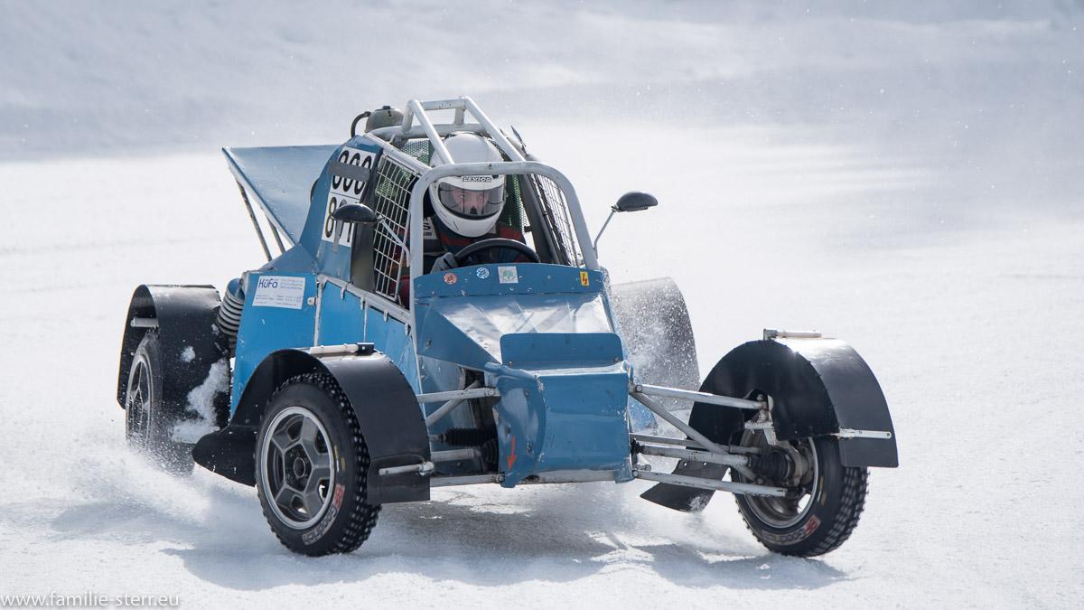 offener Buggy beim Eisspeedway in Weissenbach