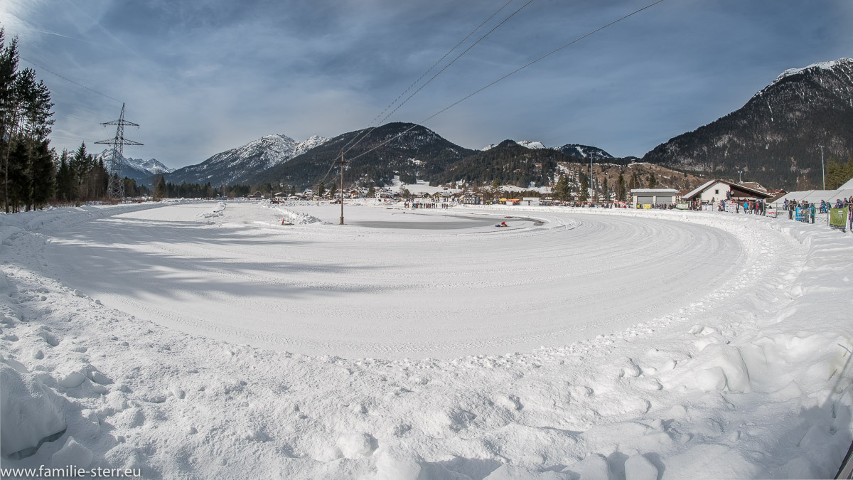 Die Eisspeedway - Anlage des MSC Weissenbach am Lech in Tirol
