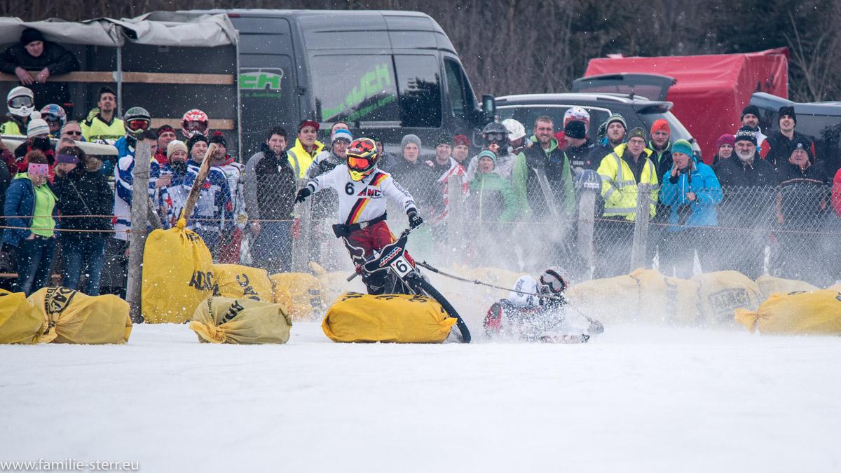 Unfall Skijöring beim MSC Steingaden 2017