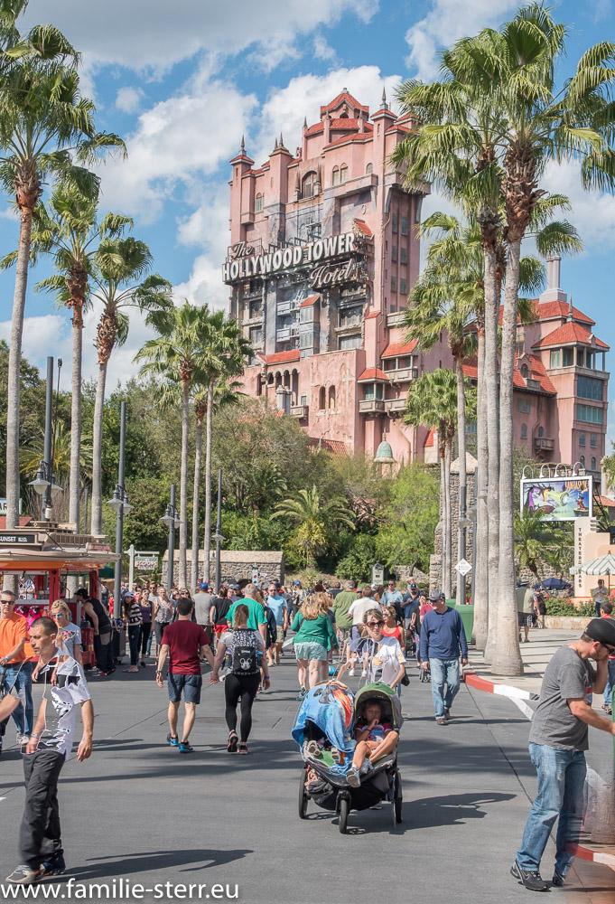 Sunset Blvd und Hollywood Hotel Tower of Terror / Disney Hollywood Studios / Florida