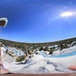 360° Panorama von Blizzard Beach von Summit Plummet aus