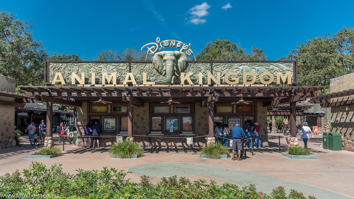 Die Ticketschalter und der Eingang zum Animal Kingdom