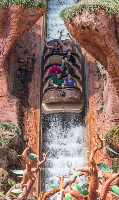 Melanie im Splash Mountain im Magic Kingdom