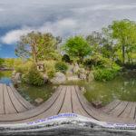 der japanische Garten und Pavillon im Westpark in München