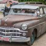 Historischer, verrosteter Dodge beim US - Car - Treffen in Bad Tölz