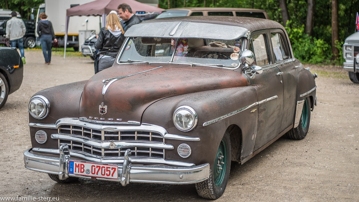 Historischer, verrosteter Dodge beim US - Car - Treffen in Bad Tölz