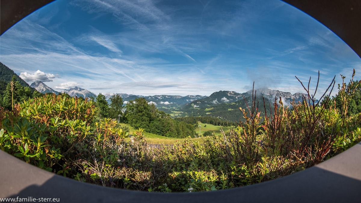 Panorama vom Kempinski Hotel  Richtung Berchtesgaden und Königssee