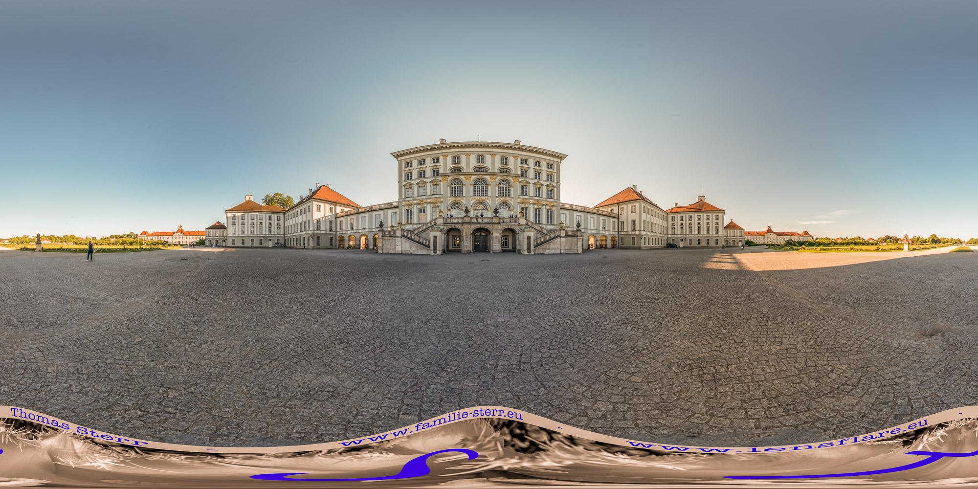 360° Kugelpanorama / Schloss Nymphenburg und Ehrenhof