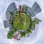 Adam Zentrale München und das Fraunhofer Institut in München als Little Planet