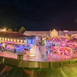 Panoramaaufnahme vom Herbstfest Erding