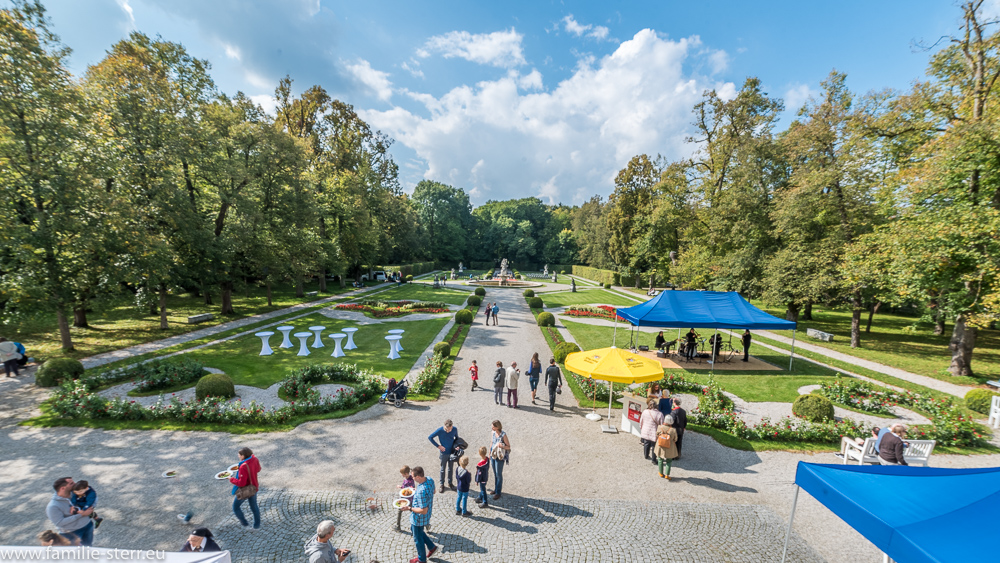 Der Barockpark am Schloss Fürstenried am Tag der offenen Tür 2017