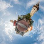 Schrannenplatz Erding als stereographisches Panorama