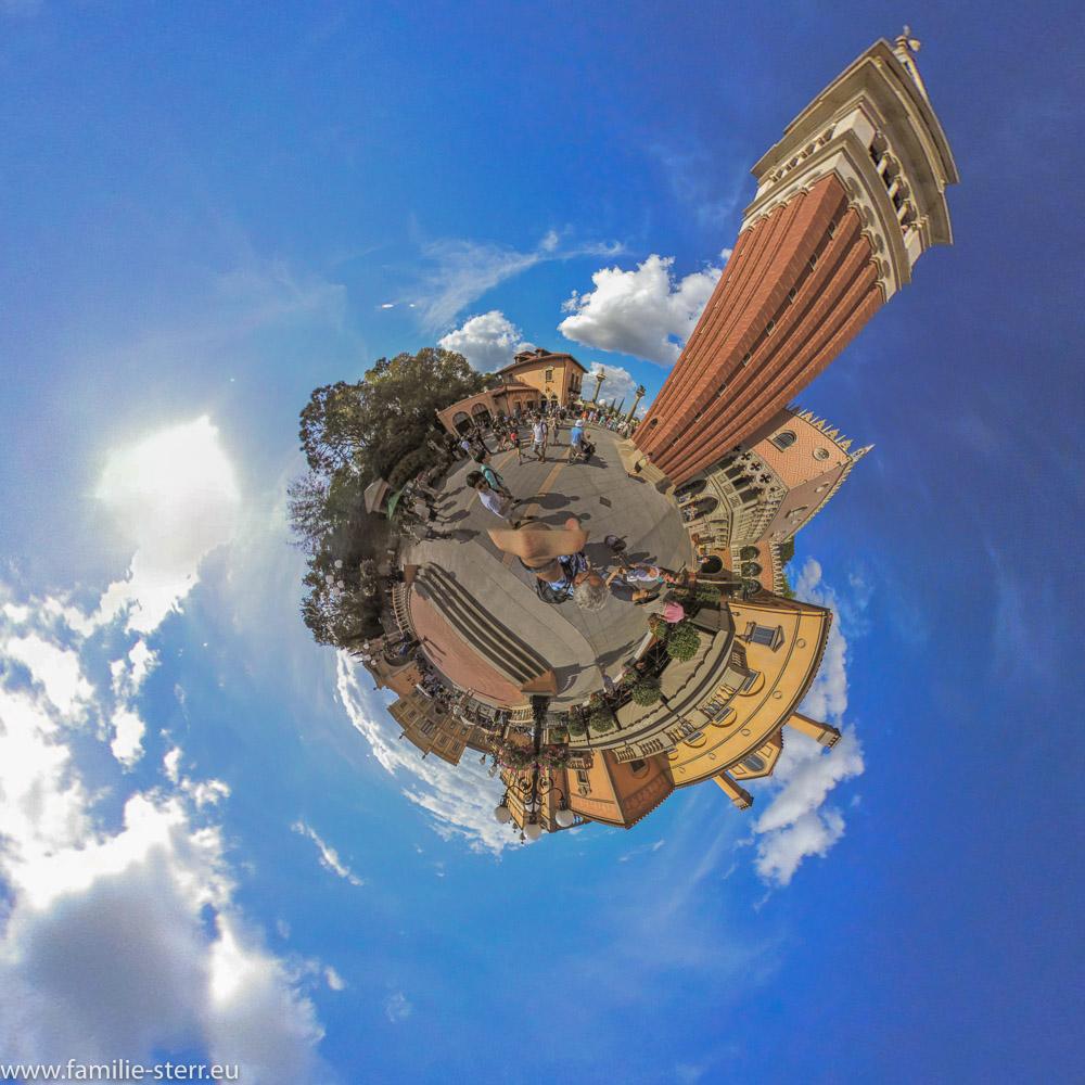 stereoskopisches Panorama von Italien aus dem EPCOT - Center, DisneyWorld Florida