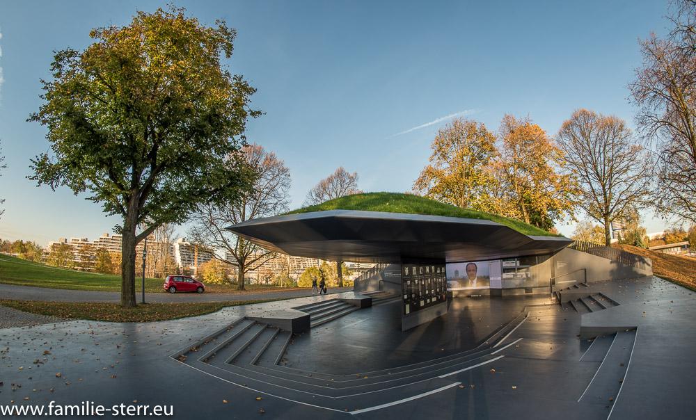 Die Gedenkstätte zum Olympia - Attentat 1972 in München