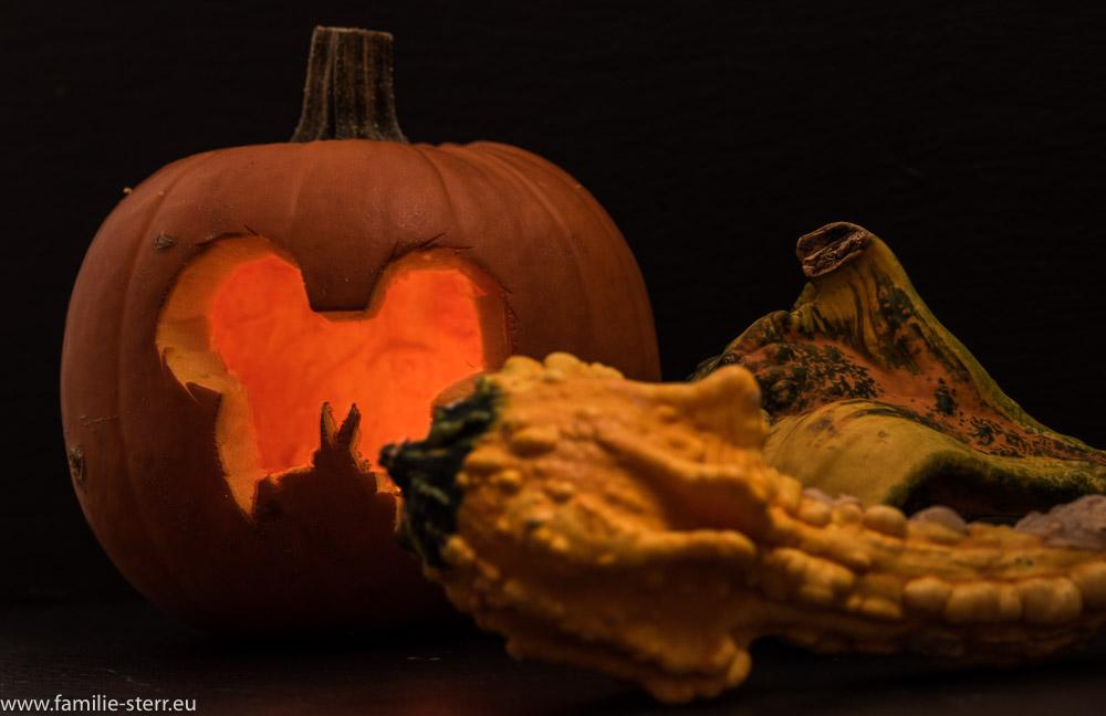 leuchtender Halloween - Kürbis