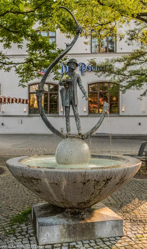 Karl Valentin Brunnen am Münchner Viktualienmarkt