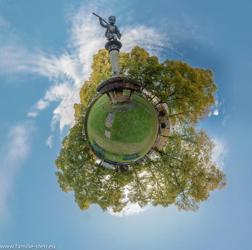 Schüleinbrunnen auf dem Schüleinplatz als Little Planet