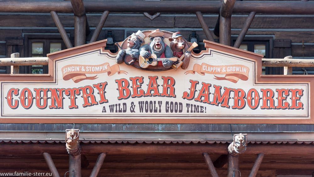 Eingang zum Country Bear Jamboree  im Magic Kingdom, Disneyworld, Orlando