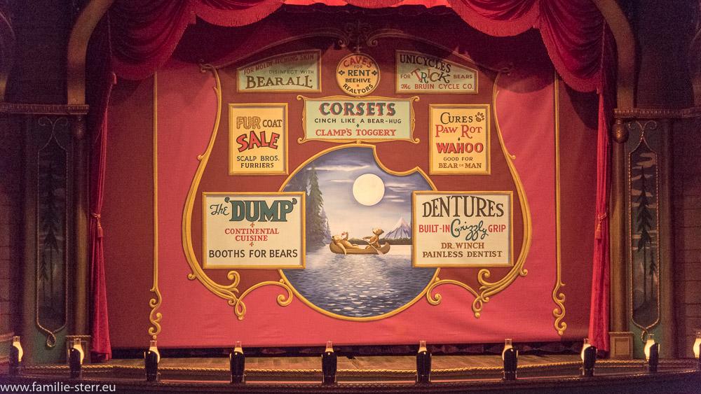 Vorhang im Saal der Country Bear Jamboree  im Magic Kingdom, Disneyworld, Orlando