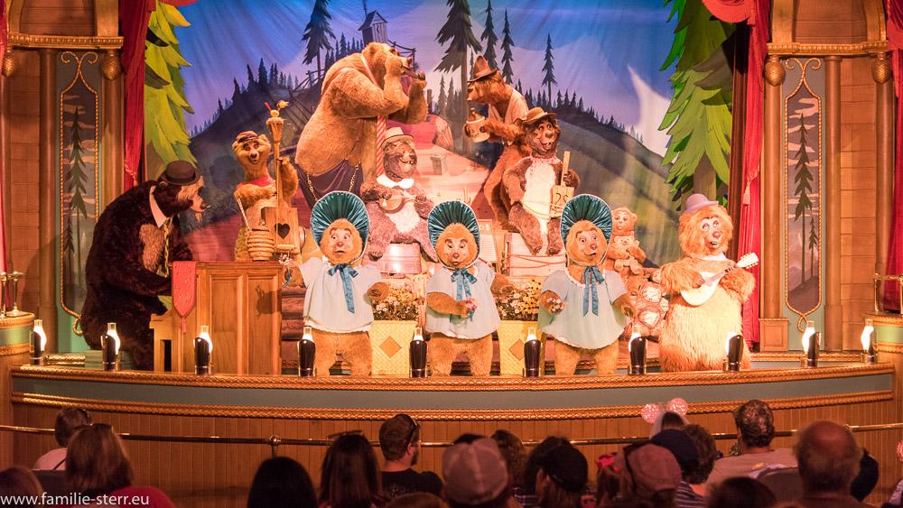 Bären - Band  im Country Bear Jamboree, Magic Kingdom, Disney World Florida