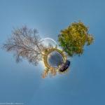 Erinnerungsstätte Olympiaattentat im Herbst als Little Planet