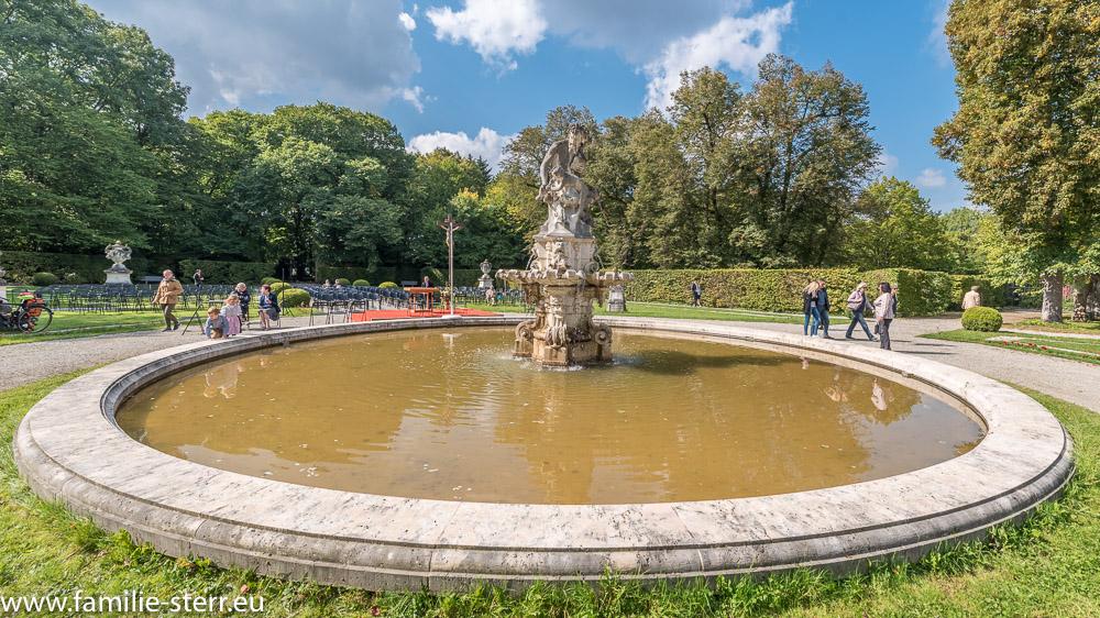 Pan Brunnen im Schlosspark Fürstenried