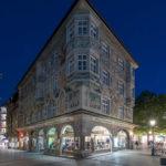 Ruffinihaus am Rindermarkt München zur blauen Stunde