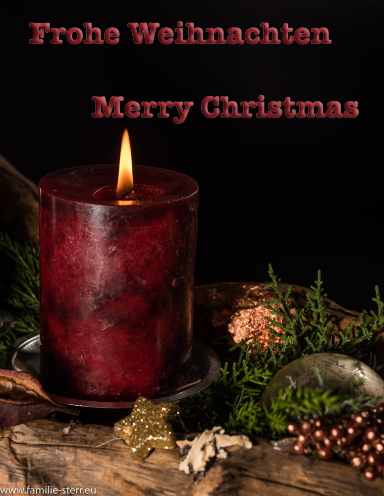 Frohe Weihnachten Familie.Frohe Weihnachten Merry Christmas Familie Sterr