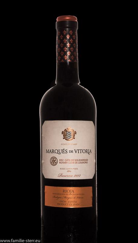 Eine Flasche Rioja von Rotary aus Spanien
