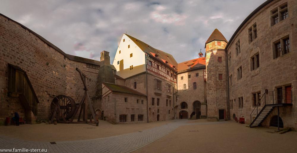 Der Burghof auf der Burg Cadolzburg