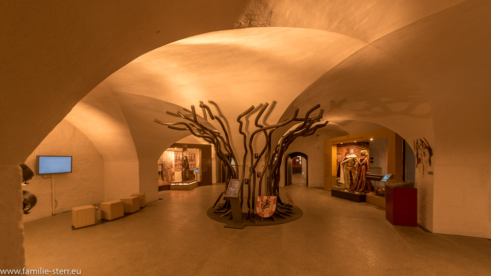 Hauptraum des Museum im Alten Schloss / Burg Cadolzburg