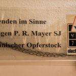 elektronischer Opferstock in der Bürgersaalkirche in München