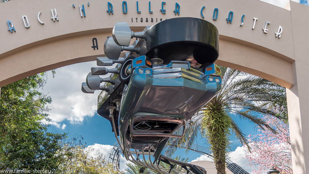 Eingang zum Rocken Roller Toaster in den Hollywood Studios / WDW Florida