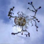 das Augustiner Chorherrenstift auf der Insel Herrenchiemsee als Little Planet