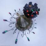Ampelkunst werk in der Zentrale der Stadtwerke München als Little Planet