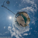 Hafen Maderno als Little Planet