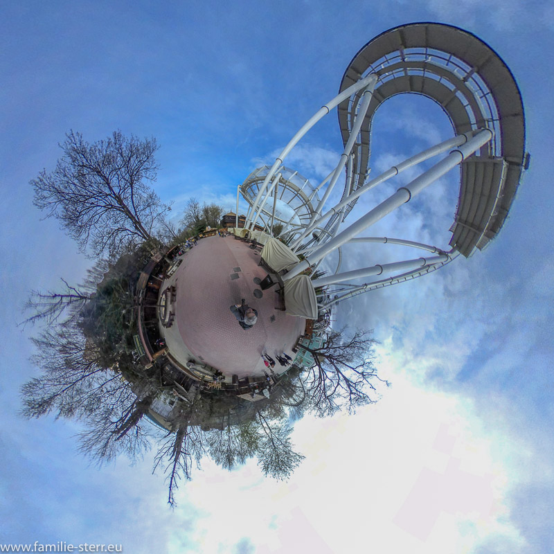 Achterbahn Oblivion Black Hole / Gardaland als Little Planet