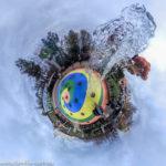 Fontäne an einem Wasserspielplatz im Gardaland / Little Planet
