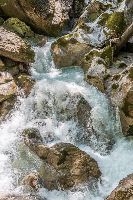 Wasserfall am oberen Ende der Seisenbergklamm