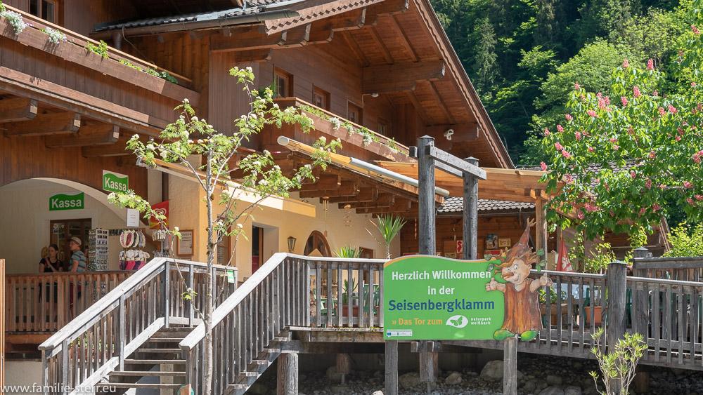 Kassenhaus am Eingang zur Seisenbergklamm