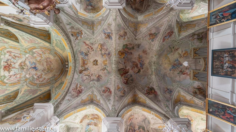 das Deckengemälde der Wallfahrtskirche Maria Alm