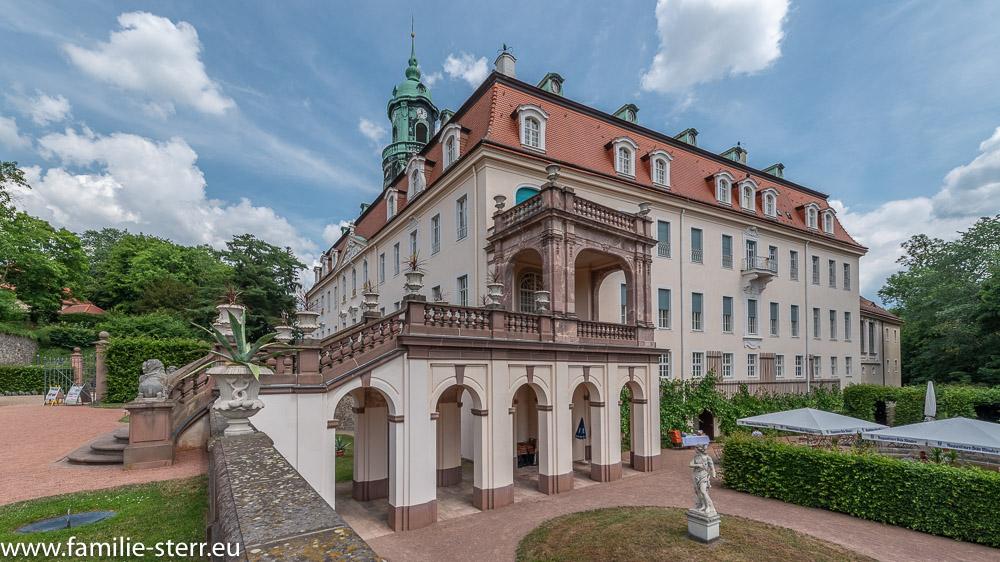 seitlicher Blick auf das Schloss Lichtenwalde