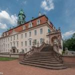 Außentreppe zum Hochzeitssaal im Schloss Lichtenwalde