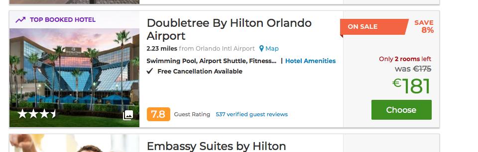 Ein unglaublich günstiges Hotelangebot