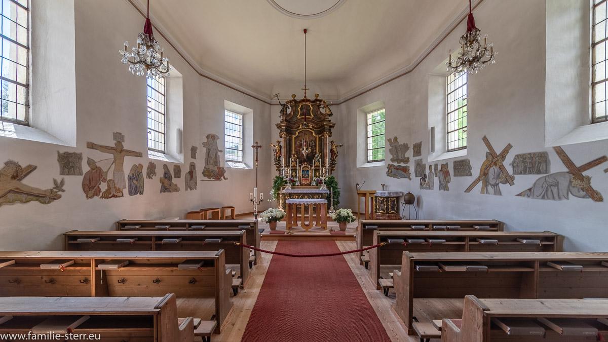 Innenraum Dreifaltigkeitskirche Hinterthal
