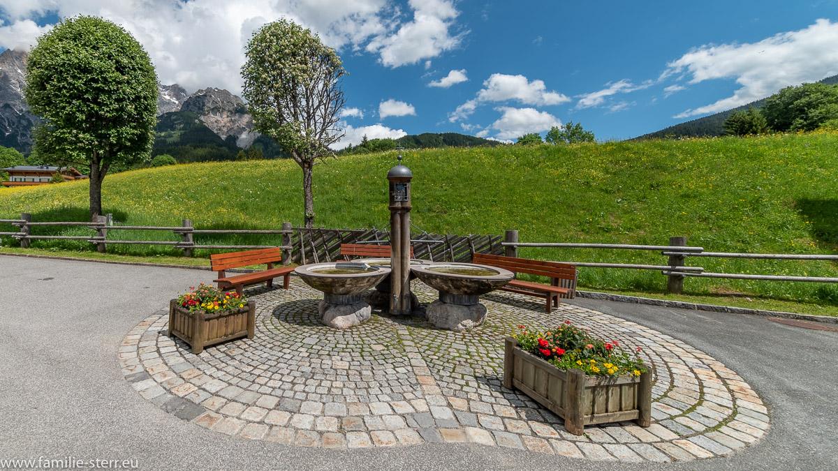 Dreifaltigkeitsbrunnen Hinterthal im Salzburger Land